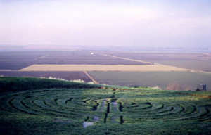 Alkborough Turf Maze, North Lincolnshire UK
