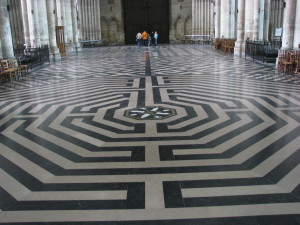 Floor maze at Cathedral of Amiens, France